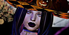 Witchy Woman (OSunshinezO) Tags: secondlife slavatar sl second shadows simplyshelby spoofy scary spooky fashion halloween witch witchy witches spells virtual portrait close up photography