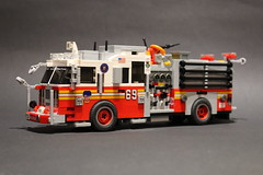 FDNY Engine 69 Harlem Hilton (sponki25) Tags: fdny fire department city of new york newyorkcity nyc engine 69 seagrave marauder ii lego moc firetruck