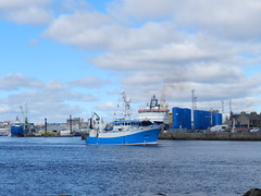 """Alba na Mara"" leaving Aberdeen Harbour, Aberdeen, Mar 2018 (allanmaciver) Tags: alba na mara blue white fishery patrol vessel operations aberdeen north sea east coast harbour torry allanmaciver"