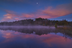 Dawn over the Griessee (Alexander Kraus) Tags: dawn sunrise early morning fog mist lake water dream red clouds zeiss batis 18mm reflection moon daybreak twilight griessee romantic scenic