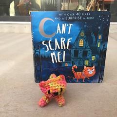 A hurry up crochet cat ready for Halloween adventure (crochetbug13) Tags: crochet crocheted crocheting amigurumi amigurumicat crochetcat crochettoy childrensbook halloweenbook