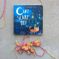 A Halloween book with all the pieces of a coordinating amigurumi cat (crochetbug13) Tags: crochet crocheted crocheting amigurumi amigurumicat crochetcat crochettoy childrensbook halloweenbook