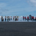 Distinguished visitors from Singapore watch flight operations USS Ronald Reagan (CVN 76)