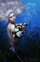 Mermaids like flowers too (Ladesire) Tags: mermaid girl fantasy flowers photomanipulation photoart digital