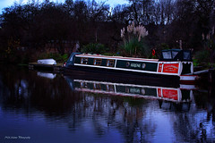 Barge (Neil Adams Photography (Wirral)) Tags: barge lowlight lowkey lowlite water canal longboat long boat