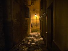 PIRANO. VICOLO. (FRANCO600D) Tags: pirano slovenia istria vicolo notte notturno night luce light strada street canon eos6dmarkii 6dmarkii canoneos6dmarkii canon6dmarkii franco600d selciato case palazzi 1271 75 13