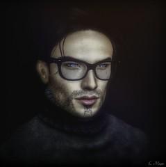 Photograph (Loegan Magic) Tags: secondlife portrait male glasses