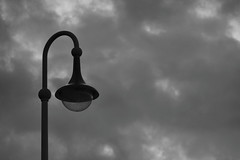The Undiscovered Icon (Robin Shepperson) Tags: streetlamp clouds blackandwhite monochrome bw sky light bleak sadness undiscovered icon nikon nikkor 55200mm deutschland germany wernigerode dark outside art design black white
