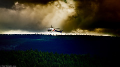 Wildfire. (Neil. Moralee) Tags: neilmoralee smoke sky helicopter wildfire fire flying cloud forest public safety brave canada british columbia neil moralee nikon d7200 visibility colour color tree kamloops