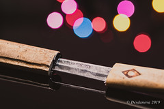 Letter Opener (Katana) (Desdanova) Tags: wood bokeh silver worn macro multicolor tool macromondays stockton california unitedstatesofamerica stationery