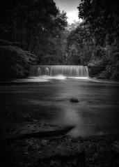 Photo of Gore Glen Waterfall (B&W)
