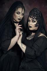 Infernal (Wurmwood Photography) Tags: spooky halloween goth gothic nikon godox fovitec beauty dark weird odd eyes makeup fantasy black dress face lovely
