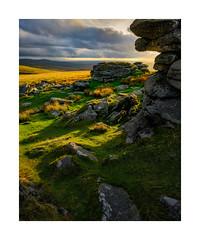 Rattlebrook Hill, Dartmoor, Devon, UK (SimonHMiles) Tags: dartmoor moor heath landscape rock tor sunset dusk sunlight grass nikon z7 1430