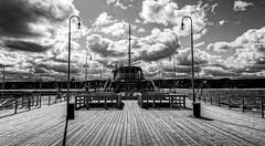 pier (Artur Wala) Tags: pier black white sopot clouds bnw sony a6000 poland amateurphotography blackandwhite monochrome