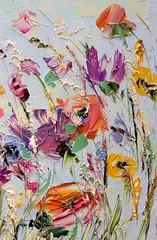 Paleta. (anthonyandr2016) Tags: flores óleo paleta colores colors flowers arte artístico