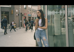 She (Howie Mudge LRPS BPE1*) Tags: woman girl people liverpool merseyside candid street 7artisans35mmf2 7artisans sony sonyalpha sonyalphagang sonya7rii cinematic cinematicstyle casual documentary sonyilce7rm2 slowshutterspeed shops windows