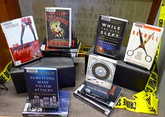 WSC library book display: The Worst Monsters are Real! (ali eminov) Tags: wayne nebraska colleges waynestatecollege libraries books halloween monsters