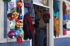 Mexican Wrestler Masks (LensAdventurer) Tags: sonynex5n manitousprings colorado mask mexican color blue zeiss jena tessar 5028