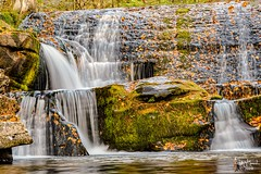 Waterfall in the Fall 1 (eaglerm_99) Tags: plankroad water falls milky down wet white