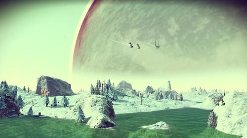 Exploring a beautiful powder-blue moon