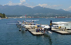 C-GFHA and friends (John W Olafson) Tags: cgfha seaplane dhc6 twinotter coalharbour