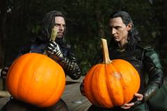 Pumpkin King (Doctor Beef) Tags: jamesbuchananbarnes buckybarnes thewintersoldier sebastianstan loki lokilaufeyson tomhiddleston thelokibuckyshow hottoys toy actionfigure 16 pumpkin