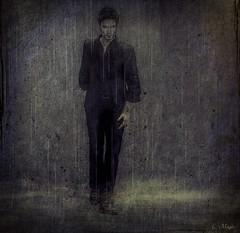 The Last Few Days (Loegan Magic) Tags: portrait male secondlife abstract rain fog dark struggle depressing depression