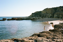 Untitled (Howard Yang Photography) Tags: algarve portugal beach contaxt kodakportra160 filmphotography