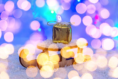 The concept of preparation for winter holidays. Sleigh with gift on snow with bokeh (wuestenigel) Tags: banner snowflake abstract xmas christmas snow merrychristmas advent festive celebration golden design merry shine blurred bokeh garland winter gift eve holiday cold lights packed newyear box symbol white decoration card surprise bow wooden background year 2019 2020 2021 2022 2023 2024 2025 2026 2027 2028 2029 2039