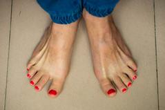 my feet (kuuan) Tags: mf manualfocus penf zuiko penff1440mm 1440mm apsc sonynex5n vietnam saigon feet myfeet nails pedicure paintednails toes paintedtoenails selfie