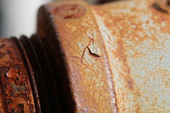 Rusty pipe - Macro (Ottawa Valley Kid) Tags: rust pipe macro
