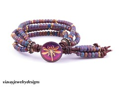 Purple Dragonfly Seed bead Leather Wrap Bracelet (Keep up to date with Via Vay Jewelry Designs on Fl) Tags: bohostyle bohochic bohemianjewelry bohochicbracelet wrapbracelet leatherwrapbracelet leather style dragonfly dragonflybracelet handmade handmadejewelry handcrafted holidays gypsystyle hippiebracelet colorfulbracelet festivebracelet uniquejewelry urbanista uniquebracelet viavayjewelrydesigns fallcollection fashion fashionblogger