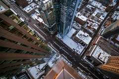 Rocca - 2019 - Rooftop (FelixShots_) Tags: montreal mtl rooftop rooftopping roof rokinon sunset snow winter wide