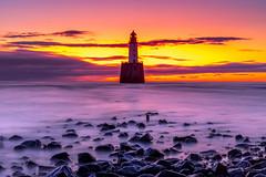 Sunrise at Rattray head (PeskyMesky) Tags: rattrayhead lighthouse sunrise sunset aberdeenshire scotland landscape longexposure red sea sky sand beach water canon canon5d eos