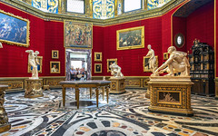 Florence Gallery Appreciation (ken mccown) Tags: uffizigallery red museum florence firenza italy architecture art sculpture