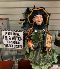 I'm A Witch (Explore #40, Oct. 18, 2019) . (Irene, Montreal, QC) Tags: ifyouthinkimawitch witch witches halloween halloweendecorations halloweenfun halloweencostumes celebrations indoor indoorscenes displays art artobjects artforms fallscenes fallcelebrations stores storewindows imawitch