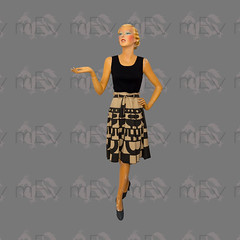 1960s Louis Féraud Dress (Rickenbackerglory.) Tags: vintage 1960s louisféraud dress perspook siegel mannequin