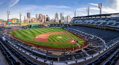 Enjoy The View (Wes Iversen) Tags: fencefriday hff nikkor18300mm pncpark pennsylvania pittsburgh pittsburghpirates ballparks baseball cities cityscapes fans groundskeepers pano panorama seats skylines sports stadium