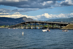Kelowna (Floating) Bridge circa. 1958 (SonjaPetersonPh♡tography) Tags: kelowna westkelowna interior bc britishcolumbia canada nikon nikond5300 afsdxnikkor18300mmf3563gedvr okanagan okanaganlake lakeokanagan waterscape lake boating watersports kelownabridge floatingbridge bridge highway summer 2019 circa1958