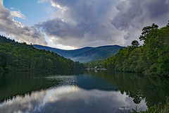 Vogel State Park (mevans4272) Tags: trees lake reflections clouds sky