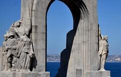 Monument (thomasgorman1) Tags: landmark statues monument wwl france french marseille commemorate war nikon arch sculpture 1927 heroism stone granite