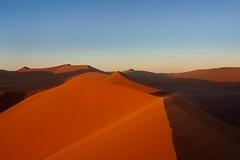 Sunrise on Dune 45 (aivar.mikko) Tags: sunrise dunes dune sand sossusvlei bluesky blue sky namibnaukluftnational park namibia desert namibnaukluft national namib naukluft namibian desertlandscapes southafrica southafrican south africa african namibianlandscapes landscape landscapes scenic view red coth5 ngc