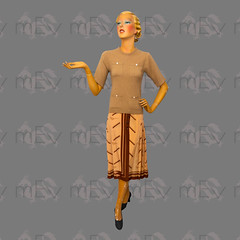 """1960s Camel Hair & Wool Jaeger Short Elbow Length Sleeve Jumper With 1970s/1980s """"Pencil"""" Skirt by Daniel Hechter (Rickenbackerglory.) Tags: vintage 1960s 1970s 1980s camelhair wool jaeger jumper sweater pencilskirt danielhechter siegel mannequin"""