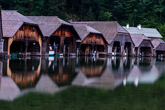 The Boathouses at Königsee (George Plakides) Tags: germany alpine lake königsee boathouse boat reflections water
