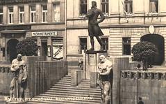 OLD POSTCARDS - TEPLICE 390 (beranekp) Tags: czech teplice teplitz market markt square platz mozart statue ansichtskarte postcard pohlednice