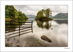 Classic Lake District - 2019-09-24th (colin.mair) Tags: autumn derwentwater england forest island lakedistrict nd4 boathouse border fence filter frame leaves longexposure trees water