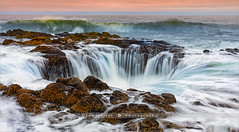 Thor's Well - Oregon - USA (~ Floydian ~) Tags: henkmeijer photography floydian thorswell capeperpetua oregon oregoncoast pacificcoast pacificocean westcoast northwest hightide sunrise morning dawn american seascape seascapes canon canon5dmarkiv