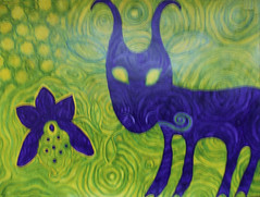 goat (lilotus32@ymail.com) Tags: art contemporaryart drawing painting creative creation picture watercolour искусство рисование творчество акварель рисунок картина nature flower purple green yellow природа цветок фиолетовый зеленый желтый