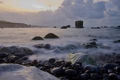 DSCF9457 (Martin P Perry) Tags: long exposure beach waves wave rock rocks sea seashore