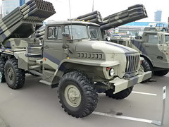 "BM-21 Grad on URAL 4320 4 • <a style=""font-size:0.8em;"" href=""http://www.flickr.com/photos/81723459@N04/48917942142/"" target=""_blank"">View on Flickr</a>"